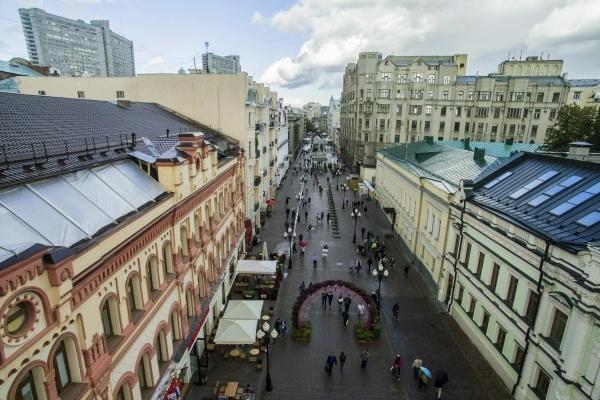 Пешеходные улицы Москвы на карте (центр)