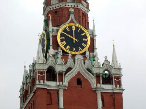 Кремлевские куранты - часы Спасской башни в Кремле