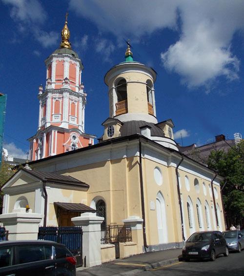 Церковь Федора Стратилата в Архангельском переулке, дом 9
