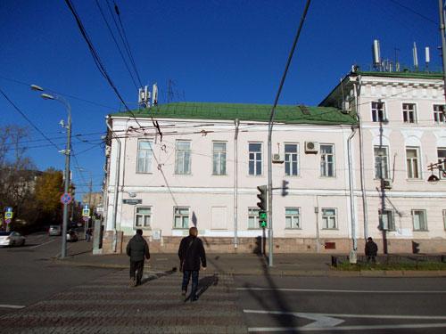 Левый флигель усадьбы Яковлева-Ермоловой на Волхонке