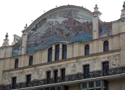 Майоликовое панно на гостинице Метрополь