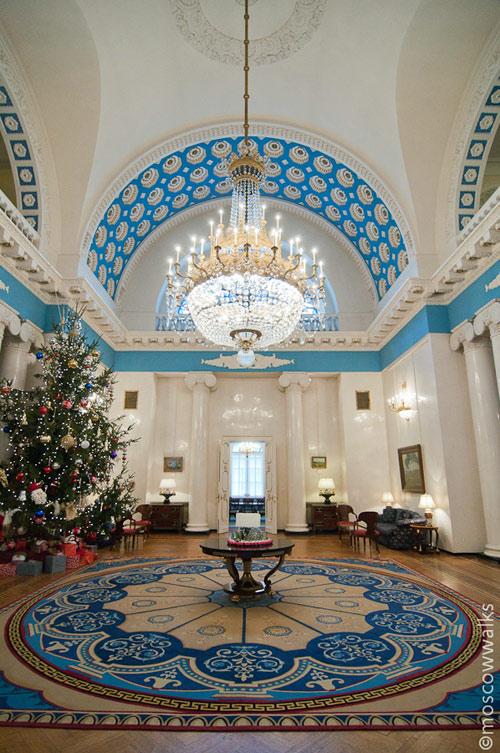 Резиденция американского посла в Спасопесковском переулке в Москве