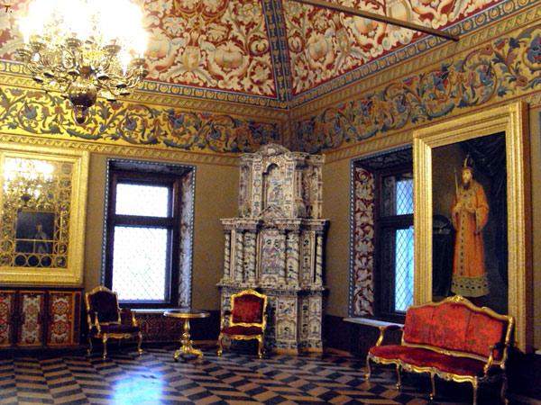 Внутреннее убранство московского Юсуповского дворца