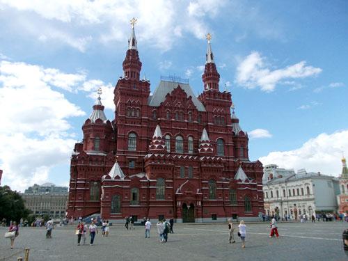 Здание Государственного Исторического музея в Москве