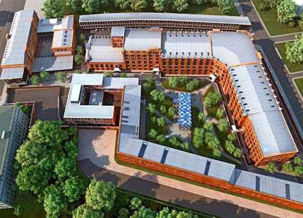 Винокуренные склады и бизнес-центр «Луч» на Большой Пироговской в Москве