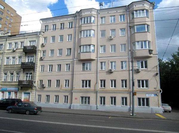 Доходный дом архитектора Стуя на Большой Пироговской в Москве