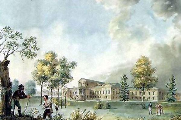 Дворец Разумовского на Гороховом поле (ныне - по улице Казакова в Москве)