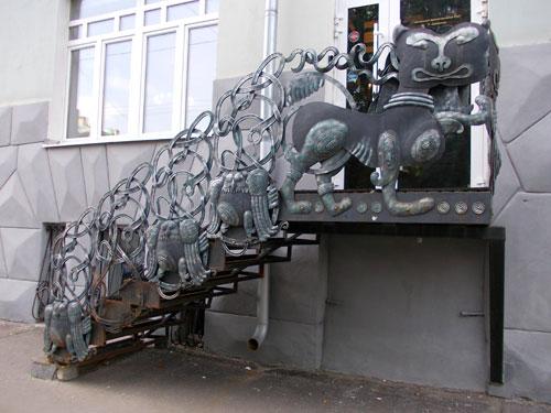 Лестница дома со зверями на Чистых Прудах