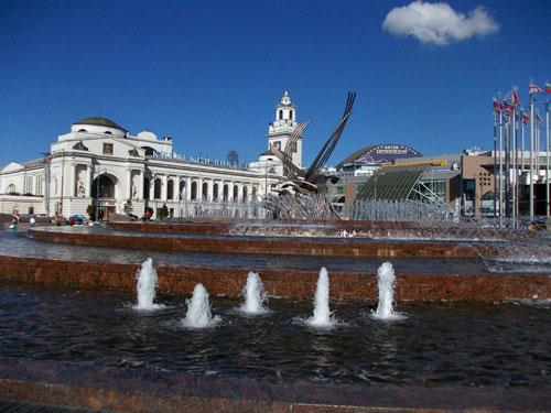 Киевский вокзал - фонтан на площади Европы