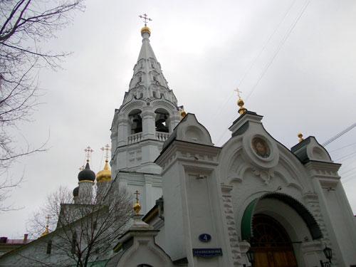 Спасский храм в Спасопесковском переулке
