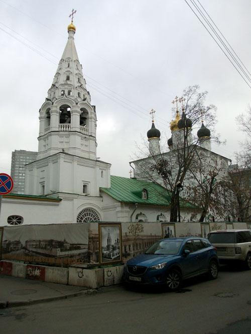 Церсковь Спаса на Песках в городе Москве