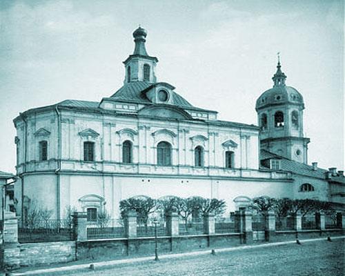 Воскресенский храм в Барашах в Москве: старое фото