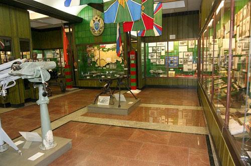 Экспозиция музея погранвойск на Яузском бульваре