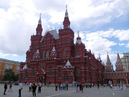 Государственный исторический музей на Красной площади в Москве
