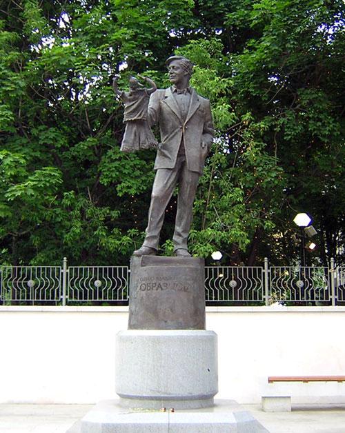 Памятник Образцову в городе Москве на Садовой-Самотечной