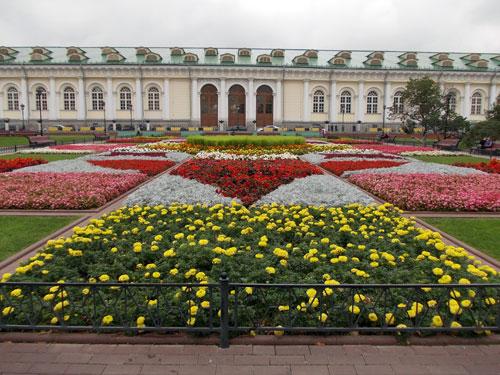 Цветник в Александровском саду