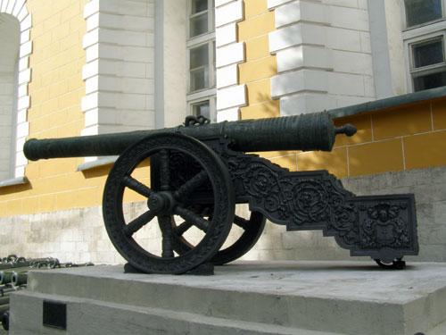 Артиллерийские орудия в Кремле