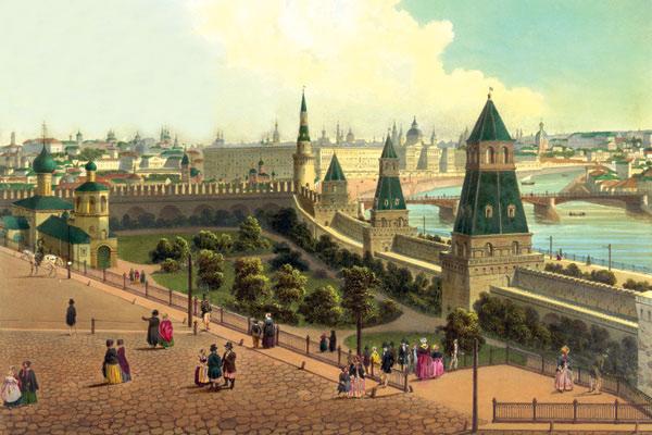 Тайницкий сад в Москве в Кремле