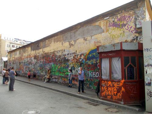 Стена Цоя на Арбате - фото