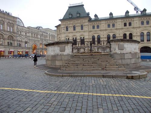 Лобное место на Красной площади Москвы