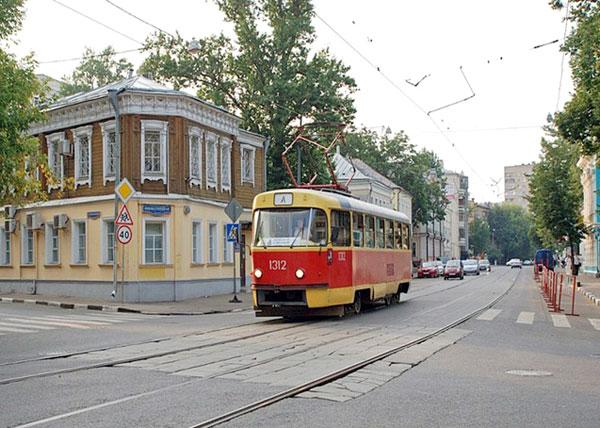 Трамвайный маршрут А в городе Москве