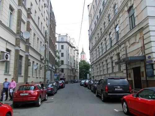 Кривоколенный переулок в Москве