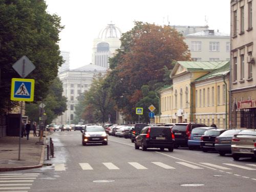 Вид улицы Поварской в сторону Нового Арбата