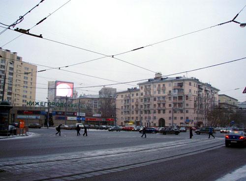Площадь Абельмановской Заставы в Москве