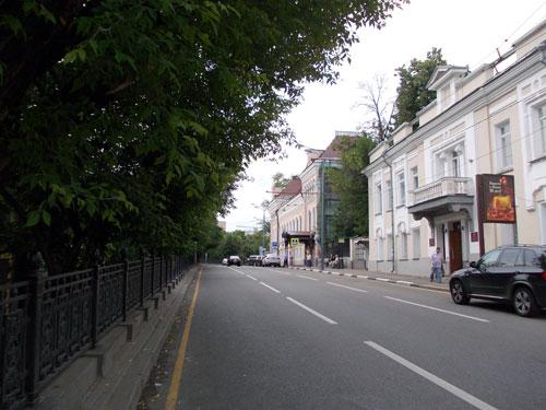 Гоголевский бульвар в направлении Арбатской площади