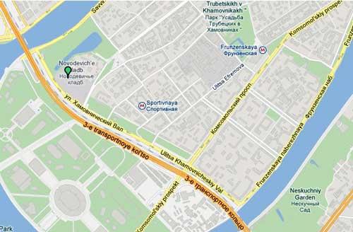 Как добраться до Новодевичьего кладбища